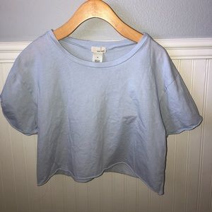 Light Blue Cropped Tee